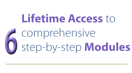 6 comprehensive modules
